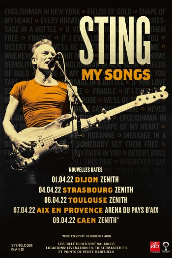 Sting concert My Songs tournée Zénith de Dijon